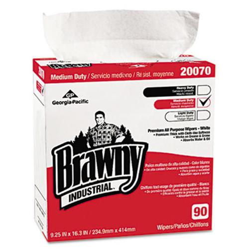 Georgia Pacific Medium-Duty Premium Wipes, 9 1/4 x 16 3/8, White, 90/Box (GPC 2007003CT)