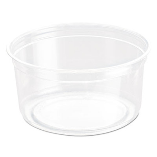Dart Bare Eco-Forward RPET Deli Containers, 12 oz, Clear, 50/Pack, 10/Carton (SCC DM12R)