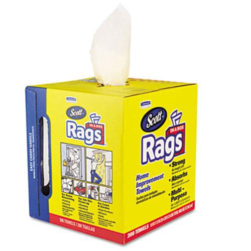 Scott Rags in a Box, POP-UP Box, 10 x 12, White, 200/Box (KCC75260)