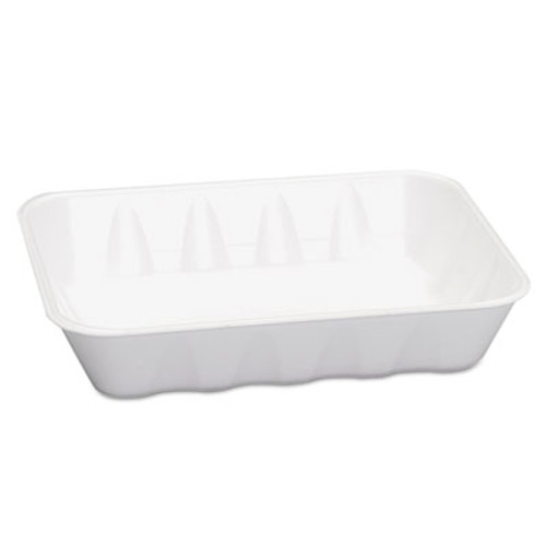 Genpak Supermarket Trays, White, Foam, 11 7/8 x 8 3/4 x 1 4/9, 100/Carton (GNP 20KWH)