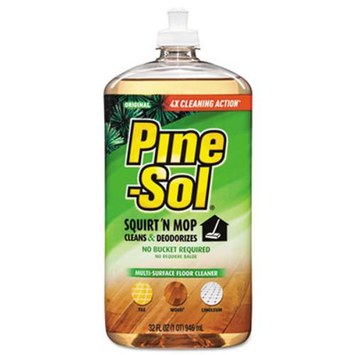 Pine-Sol Squirt 'n Mop Multi-Surface Floor Cleaner, 32 oz Bottle, Original Scent, 6/CT (CLO 97348)