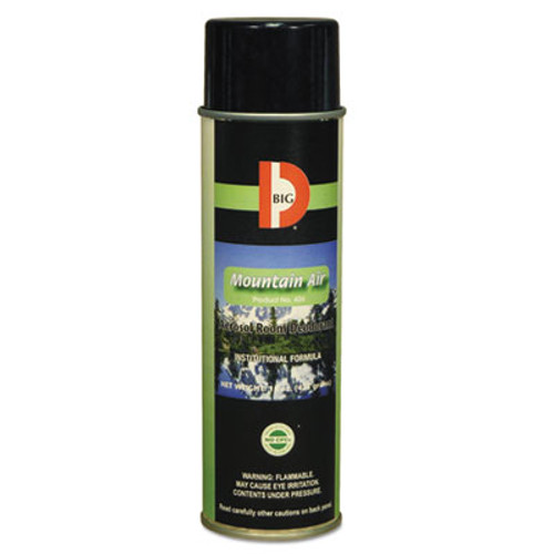 Big D Industries Aerosol Room Deodorant, Mountain Air Scent, 15 oz Can, 12/Box (BGD 426)