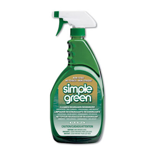 Simple Green Industrial Cleaner & Degreaser, Concentrated, 24 oz Bottle, 12/Carton (SMP 13012CT)