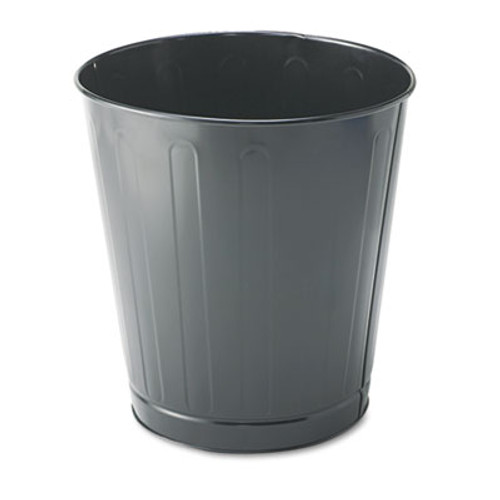 Rubbermaid Fire-Safe Wastebasket, Round, Steel, 6 1/2 gal, Gray (RCP WB26GRY)