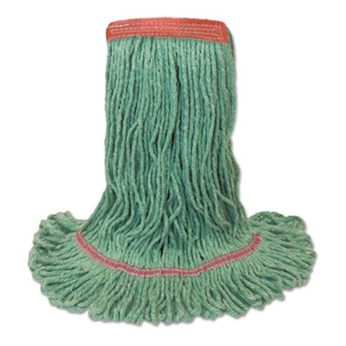 Boardwalk Mop Head, Premium Standard Head, Cotton/Rayon Fiber, Medium, Green (BWK 502GNNB)