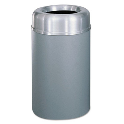 Rubbermaid Crowne Collection Open Top Receptacle, Aluminum/Steel, 30 gallon, Silver/Gray (RCP AOT30SAGRPL)