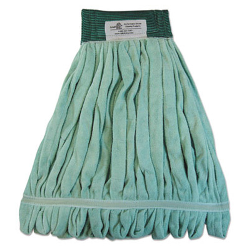 Boardwalk Microfiber Looped-End Wet Mop Heads, Medium, Green, 12/Carton (BWK MWTM-GCT)
