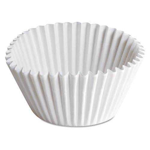 Hoffmaster Fluted Bake Cups, 2 1/4 dia x 1 7/8h, White, 500/Pack, 20 Pack/Carton (HFM 610070)