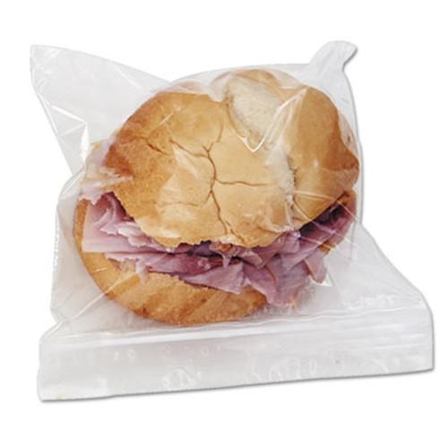 Boardwalk Reclosable Food Storage Bags, Sandwich Bags, 1.15 mil, 6 1/2 x 5 8/9, 500/Box (BWK SANDWICHBAG)