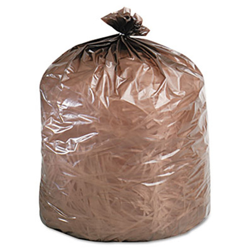 Stout Eco-Degradable Plastic Trash Garbage Bag, 39gal, 1.1mil, 33 x 44, Brown, 40/Box (STOG3344B11)