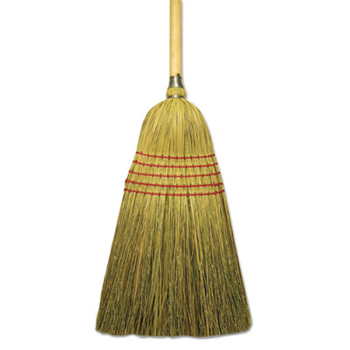 "Boardwalk Corn/Fiber Lobby Brooms, 53.5"", Natural, 6/Carton (BWK BR10004)"