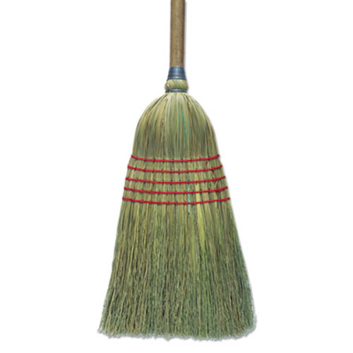 "Boardwalk Corn Broom, 56"", Lacquered Wood Handle, Natural, 6/Carton (BWK BR10003)"