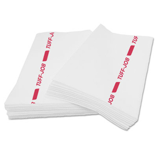 Cascades PRO Busboy Guard Antimicrobial Towels, White/Red, 12 x 24, 20/Pack, 12 Packs/Carton (CSD 35060)
