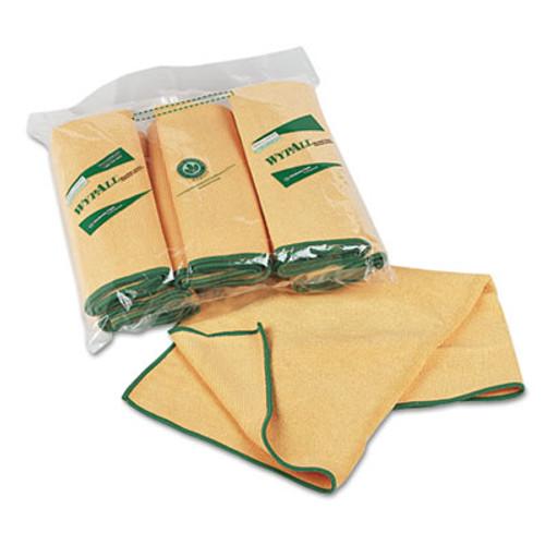 WypAll* Microfiber Cloths, Reusable, 15 3/4 x 15 3/4, Yellow, 24/Carton (KCC 83610CT)