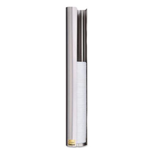 San Jamar Stainless Steel Lid Wall Dispenser, Fo 6-10oz Cups, Black (SAN L3200)