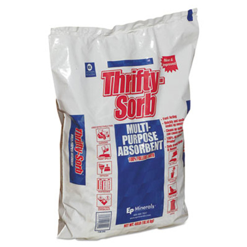 Thrifty-Sorb All-Purpose Clay Absorbent, 40 lb, Poly-Bag, 50/Carton (MOL 8440)