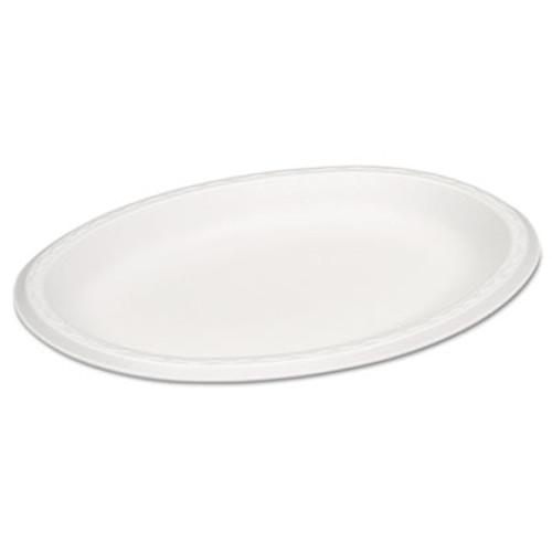 Genpak Celebrity Foam Platters, 11.5 x 8.5, White, 125/PK, 4 PK/CT (GNP 81100)