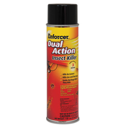 Enforcer Dual Action Insect Killer, For Flying/Crawling Insects, 17oz Aerosol,12/Carton (AMR1047651)