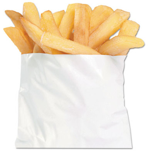 "Bagcraft French Fry Bags, 4 1/2"" x 4 1/2"", White, 2000/Carton (BGC 450006)"