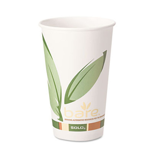 Dart Bare by Solo Eco-Forward Recycled Content PCF Paper Hot Cups, 12 oz, 1,000/Ct (SCC 412RCN)