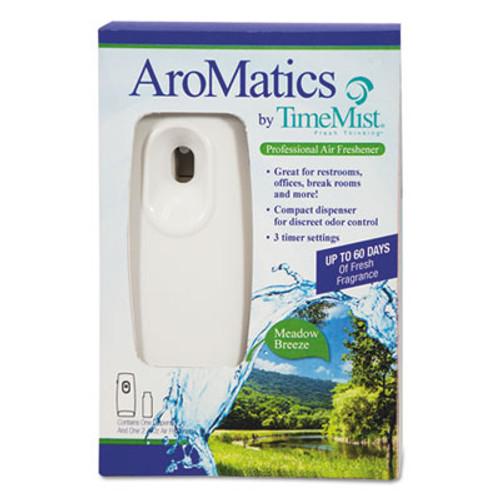 TimeMist AroMatics Dispenser/Refill Kits, 3oz Meadow Breeze Refill, White Dispenser (WTB1047355)
