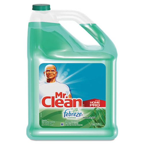 Mr. Clean Multipurpose Cleaning Solution with Febreze, 128 oz Bottle, Meadows & Rain Scent (PAG23124)