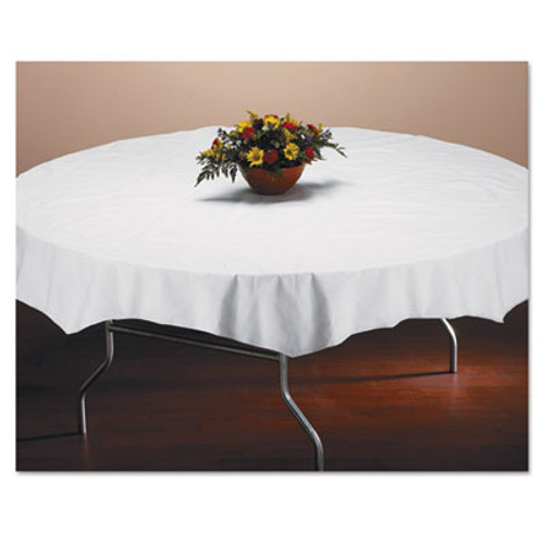 """Hoffmaster Tissue/Poly Tablecovers, 82"""" Diameter, White, 25/Carton (HFM 210101)"""