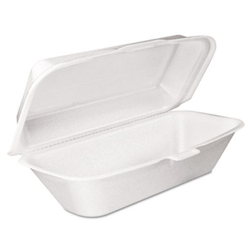 Dart Foam Hoagie Container with Removable Lid, 9-4/5x5-3/10x3-3/10, White, 125/Bag (DCC 99HT1R)