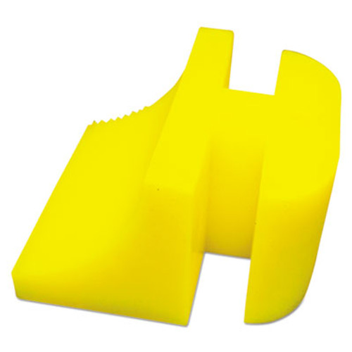 Boardwalk Silicone Door Stop, 3 x 1/4, Neon Yellow (BWK SDS-BW-NY)