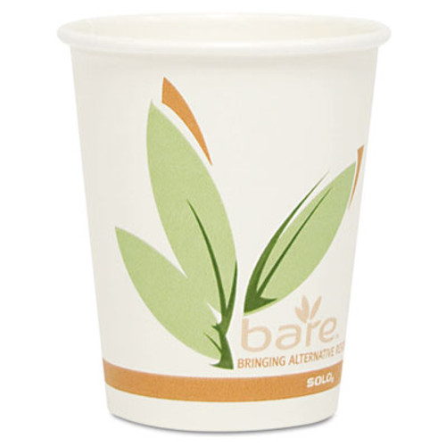 Dart Bare by Solo Eco-Forward Recycled Content PCF Paper Hot Cups, 10 oz, 1,000/Ct (SCC 370RC)