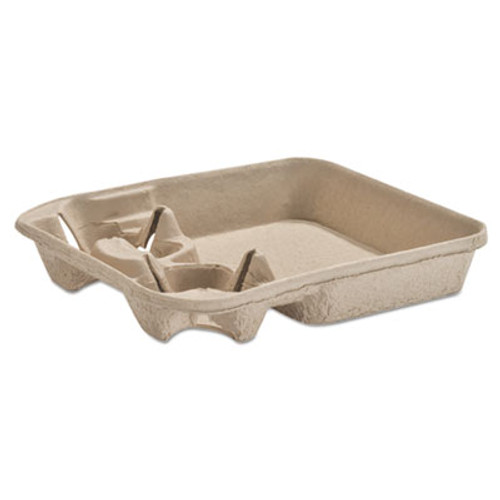 Chinet StrongHolder Molded Fiber Cup/Food Tray, 8-22oz, Two Cups, 250/Carton (HUH FORUM)