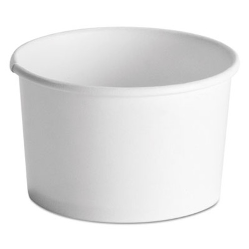 Chinet Squat Paper Food Container, Streetside Design, 8-10oz, White, 50/Pack, 20/CT (HUH 71037)