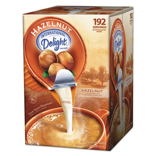 International Delight Flavored Liquid Non-Dairy Coffee Creamer, Hazelnut, 0.4375 oz Cups, 192 Cups/CT (ITD827965)