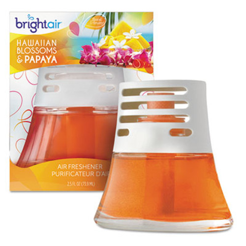 BRIGHT Air Scented Oil Air Freshener, Hawaiian Blossoms and Papaya, Orange, 2.5oz, 6/Carton (BRI 900021CT)