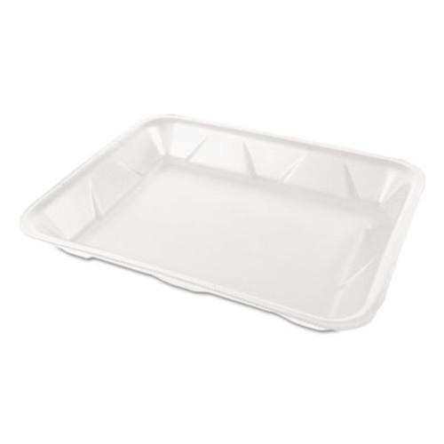 Genpak Processor/Heavy Supermarket Tray, White, 9 1/4x 7 1/4 x 1 1/8, 100/Bag, 4/CT (GNP TR04PWH)
