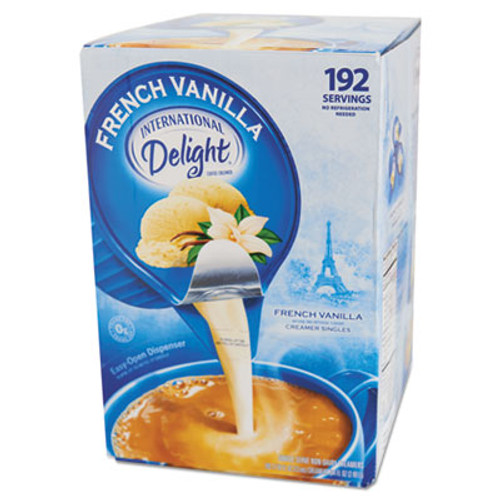 International Delight Flavored Liquid Non-Dairy Coffee Creamer, French Vanilla, 0.4375 oz Cups, 192/CT (ITD827981)