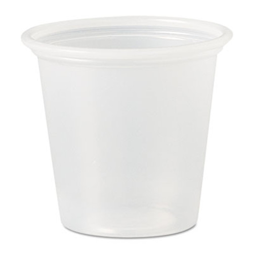 Dart Polystyrene Portion Cups, 1 1/4 oz, Translucent, 2500/Carton (DCC P125N)