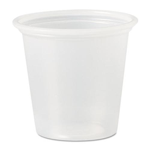 Dart Polystyrene Portion Cups, 1 1/4 oz, Translucent, 2500/Carton (DCC P125N)