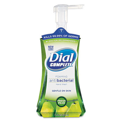 Dial Antibacterial Foaming Hand Wash, Fresh Pear, 7.5oz Pump Bottle (DIA02934)
