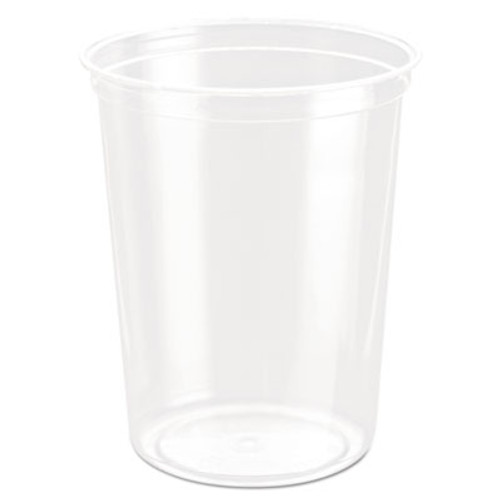 Dart Bare Eco-Forward RPET Deli Containers, 32 oz, Clear, 50/Pack, 10/Carton (SCC DM32R)
