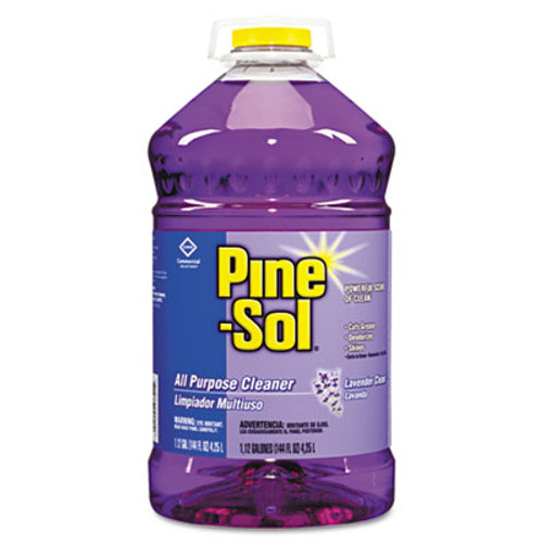 Pine-Sol All Purpose Cleaner, Lavender Clean, 144 oz Bottle, 3/Carton (CLO97301)