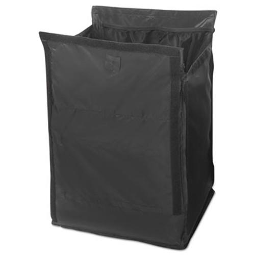 Rubbermaid Executive Quick Cart Liner, Large, 12 4/5 x 16 x 22 1/5, Black, 6/Carton (RCP 1902701)