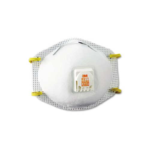3M Particulate Respirator w/Cool Flow Exhalation Valve, 10 Masks/Box (MMM8511)