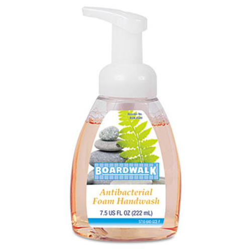 Boardwalk Antibacterial Foam Hand Soap, Fruity, 7.5 oz Pump Bottle (BWK8600EA)