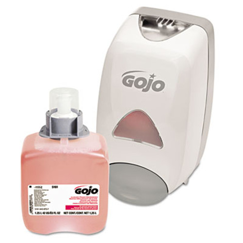 GOJO FMX-12 Dispenser Kit, with Soap Refill, 1250mL, Gray (GOJ 5161-D2)