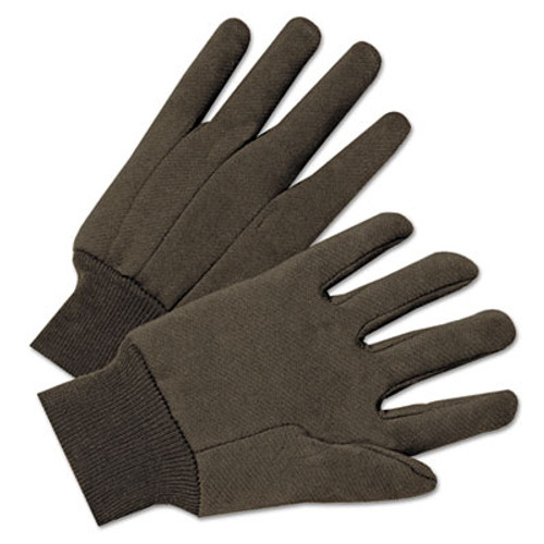 Anchor Brand Jersey General Purpose Gloves, Brown, 12 Pairs (ANR1200)