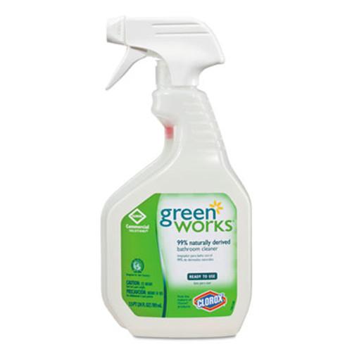 Green Works Bathroom Cleaner, 24oz Spray Bottle, 12/Carton (CLO 00452CT)