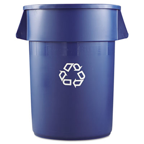 Rubbermaid Commercial Brute Recycling Container, Round, 44 gal, Blue (RCP264307BLUCT)