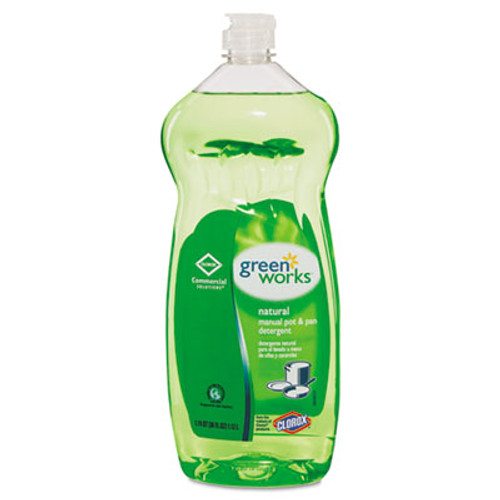 Green Works Manual Pot and Pan Dishwashing Liquid, 38 oz Bottle, 8/Carton (CLO 30381CT)