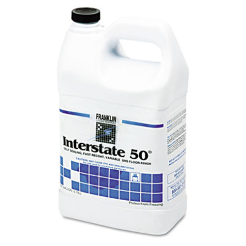 Franklin Cleaning Technology Interstate 50 Floor Finish, 1gal Bottle, 4/Carton (FKLF195022CT)